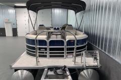 Rear Swim Deck of the 2021 Berkshire 24RFX LE Pontoon Boat