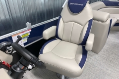 Captain's Helm Chair of the 2021 Berkshire 24RFX LE Pontoon Boat
