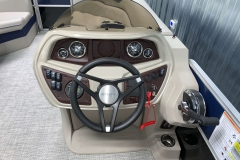 Driver's Console of the 2021 Berkshire 24RFX LE Pontoon Boat
