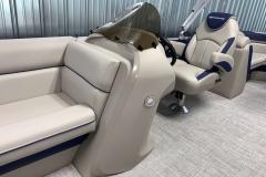 Helm of the 2021 Berkshire 24RFX LE Pontoon Boat