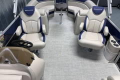 Interior Rear Layout of the 2021 Berkshire 24RFX LE Pontoon Boat