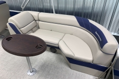 Removable Snack Table on the 2021 Berkshire 24RFX LE Pontoon Boat