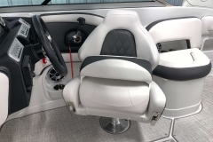 Captain's Bolster Seat of the 2021 Crownline 255 SS Bowrider Boat