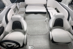 Interior Cockpit Layout of the 2021 Crownline 255 SS Bowrider Boat