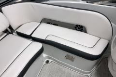 Deluxe Color Matched Interior on the 2021 Crownline 255 SS Bowrider Boat