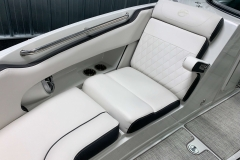 Folding Bow Armrests of the 2021 Crownline 255 SS Bowrider Boat