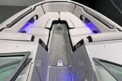 Interior Bow LED Lighting of the 2021 Crownline 255 SS Bowrider Boat