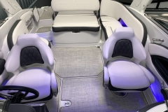 Interior Rear LED Lighting of the 2021 Crownline 255 SS Bowrider Boat