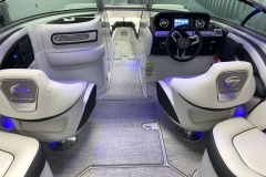 Interior LED Lighting on the 2021 Crownline 255 SS Bowrider Boat