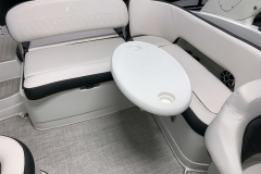 Portable Rear Snack Table of the 2021 Crownline 255 SS Bowrider Boat