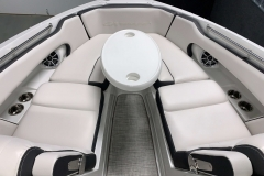 Portable Bow Snack Table of the 2021 Crownline 255 SS Bowrider Boat