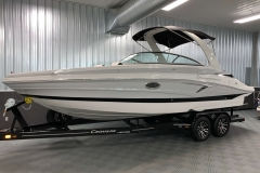 Moonstone and Onyx Exterior Color on the 2021 Crownline 255 SS Bowrider Boat