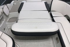 Electric Assisted Swing Back Seat of the 2021 Crownline 255 SS Bowrider Boat