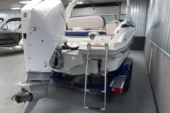 Rear Swim Ladder of the 2021 Crownline 255 XSS Bowrider Boat