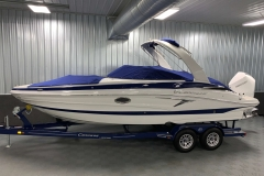 Bow and Cockpit Covers of the 2021 Crownline 255 XSS Bowrider Boat