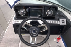 Helm of the 2021 Crownline 255 XSS Bowrider Boat