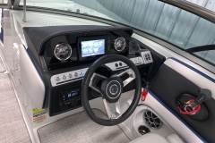 Touchscreen Garmin Display of the 2021 Crownline 255 XSS Bowrider Boat