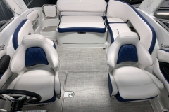 Interior Cockpit Layout of the 2021 Crownline 255 XSS Bowrider Boat