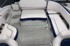 Interior Rear Layout of the 2021 Crownline 255 XSS Bowrider Boat