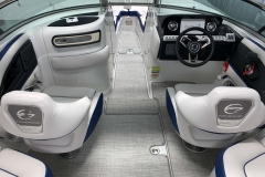 Snap-In Weave Flooring on the 2021 Crownline 255 XSS Bowrider Boat