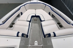 Interior Bow Layout of the 2021 Crownline 255 XSS Bowrider Boat