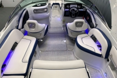 Interior Accent Lights of the 2021 Crownline 255 XSS Bowrider Boat