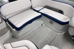 Blue Interior Accents on the 2021 Crownline 255 XSS Bowrider Boat