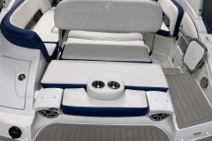 Electric Assisted Swingback Seat of the 2021 Crownline 255 XSS Bowrider Boat
