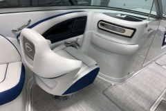 Co-Captain's Seat of the 2021 Crownline 255 XSS Bowrider Boat