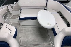 Removable Stern Snack Table of the 2021 Crownline 255 XSS Bowrider Boat