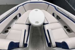 Removable Bow Snack Table of the 2021 Crownline 255 XSS Bowrider Boat
