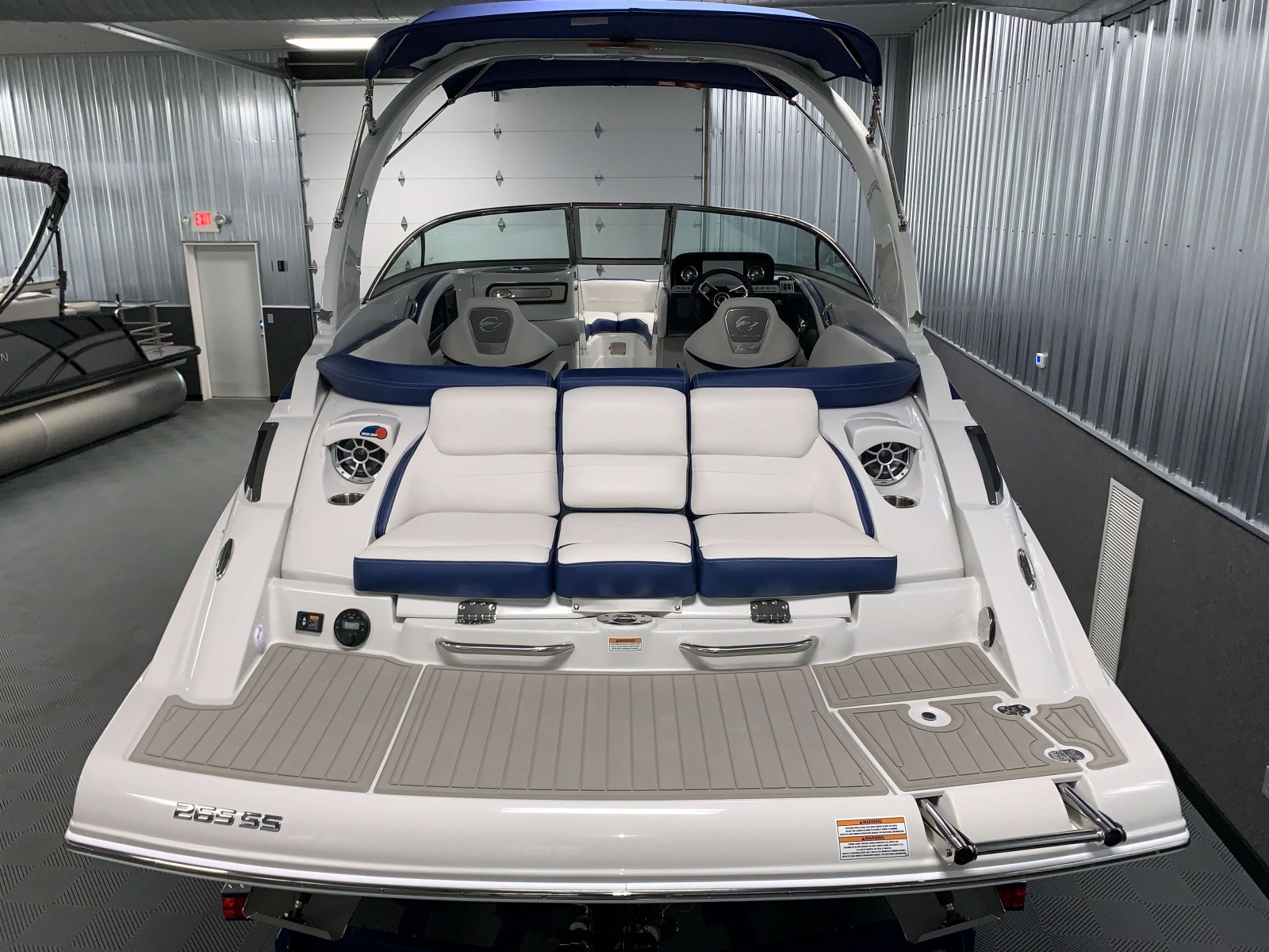 Rear Facing Seats of the 2021 Crownline 265 SS Bowrider Boat