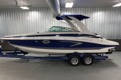 Powered Arch with Suntop of the 2021 Crownline 265 SS Bowrider Boat