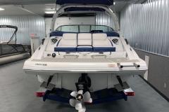 Social Swim Transom of the 2021 Crownline 265 SS Bowrider Boat