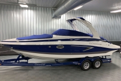 Bow and Cockpit Covers on the 2021 Crownline 265 SS Bowrider Boat