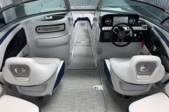Bow Walkthrough of the 2021 Crownline 265 SS Bowrider Boat