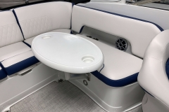 Portable Rear Snack Table of the 2021 Crownline 265 SS Bowrider Boat