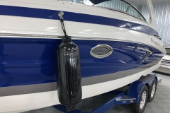 Quick Release Fender Clips on the 2021 Crownline 265 SS Bowrider Boat