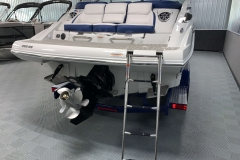 Rear Boarding Ladder of the 2021 Crownline 265 SS Bowrider Boat