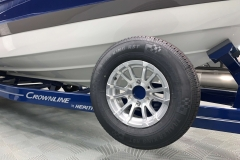 Spare Tire and Carrier on the 2021 Crownline 265 SS Bowrider Boat