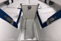 Subfloor Bow Storage of the 2021 Crownline 265 SS Bowrider Boat