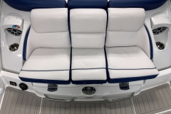 Transom Filler Cushion of the 2021 Crownline 265 SS Bowrider Boat