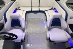 Interior Rear LED Lighting on the 2021 Crownline 265 SS Bowrider Boat