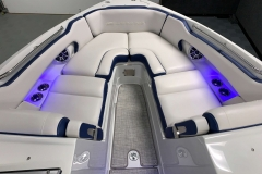 Interior Bow LED Lighting on the 2021 Crownline 265 SS Bowrider Boat