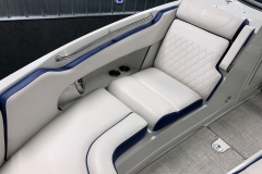 Interior Bow Seating of the 2021 Crownline 265 SS Bowrider Boat