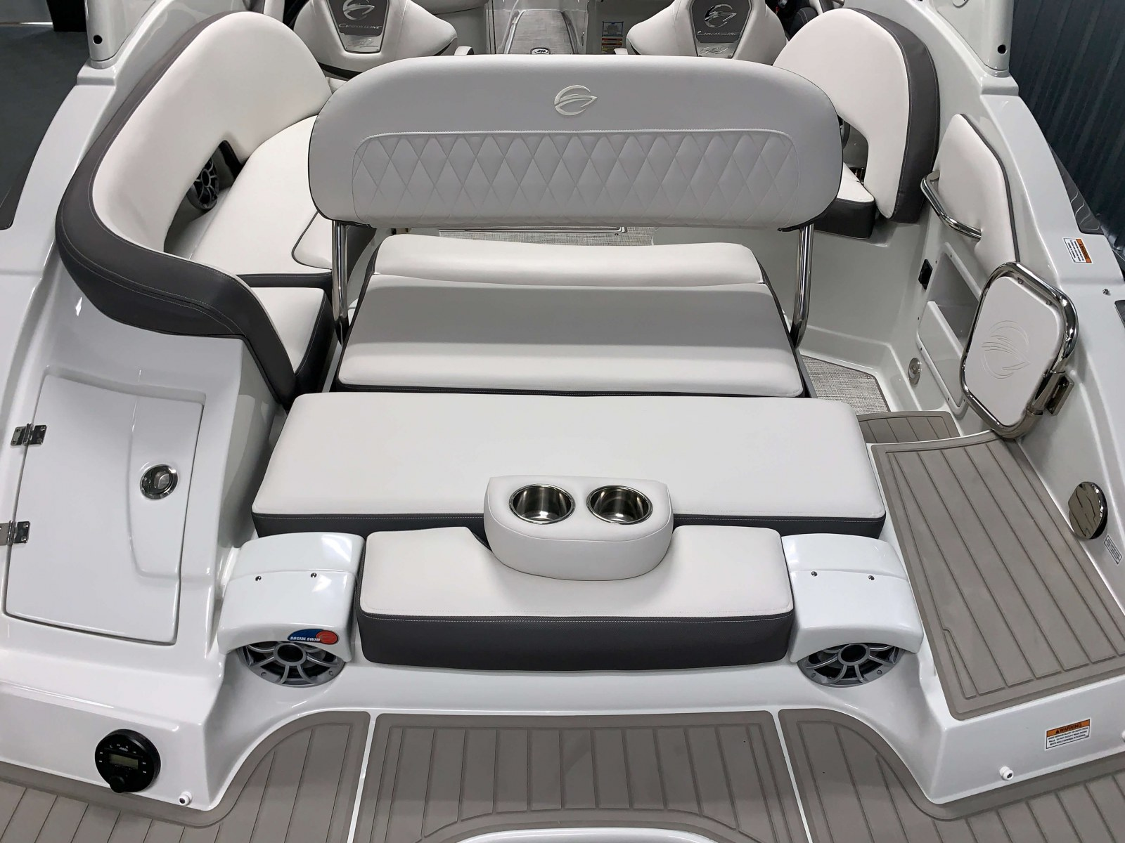 Rear Facing Seat of the 2021 Crownline 270 XSS Bowrider Boat