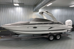 Bow and Cockpit Covers of the 2021 Crownline 270 XSS Bowrider Boat