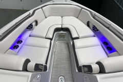 Interior Bow LED Lighting of the 2021 Crownline 270 XSS Bowrider Boat
