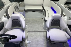 Interior Rear LED Lighting of the 2021 Crownline 270 XSS Bowrider Boat