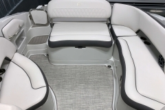 Interior Rear Layout of the 2021 Crownline 270 XSS Bowrider Boat